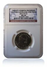 NGC MS68 2012-D Grover Cleveland Presidential Dollar $1 2nd Term Uncirculated