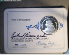 1978 Franklin Mint Membership Card (assigned) w/Sterling Slv Coin  (US-3692)