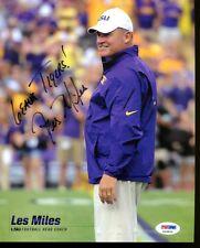 Les Miles Signed Photo 8x10 Autographed LSU Tigers PSA/DNA X26829