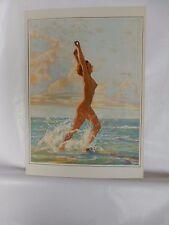 Boudoir Salon 1940s 50s  Decor Vintage print from photographers studio  Nude d1