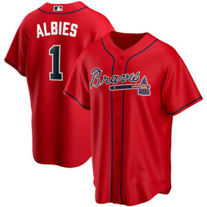 Men's Ozzie Albies Atlanta Braves Player Name & Number Jersey - Red