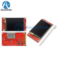 5pcs 240x320 24 Spi Tft Lcd Touch Panel Serial Port Module With Pcb Ili9341