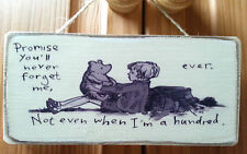 Winnie The Pooh Picture Quote Plaque / Sign. Solid Wood. Shabby chic gift. #P1