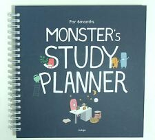 Monster's Study Planner (Navy) with Translation Sheet and Tracking Number