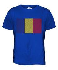 Rumania Garabato Bandera Parte Superior el Hombre Camiseta Tee Giftrom? Nia