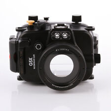 Meikon 40m/130ft Waterproof Diving Underwater Housing Case For Canon G5X Camera