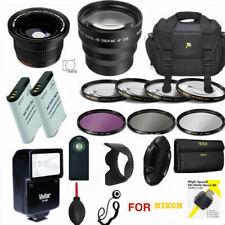 HD PRO ACCESSORY 67MM Kit FOR Nikon P900  BAG HD LENSES FLASH 2X EN-EL23 CHARGER