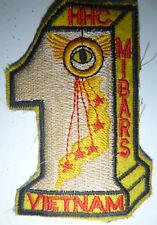 MIBARS Patch - US 1st Military Intelligence - Air Recon - Vietnam War - 2019
