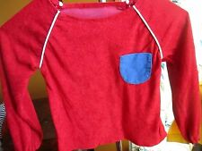 VTg 70s grls boys sz 6 relic Stretch Acrylic Pocketed Red HIPPY DISCO T-Shirt