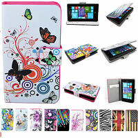 Flip Leather Wallet Card Holder Stand Skin Pouch Case Cover For Nokia Lumia 520