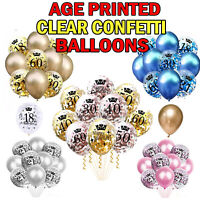 NICE Age Printed Confetti Latex Clear Balloons with Coloured Confetti Balloons