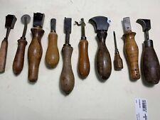 lot de 10 anciens outils  de bourrelier/cordonnier  - lot 11