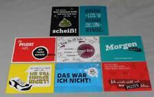 8 Spruchkarten - Ansichtskarten ungelaufen - 8 verschiedene Sprüche  /S349