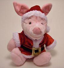"Disney Store Winnie the Pooh's Piglet Santa Plush 12"""