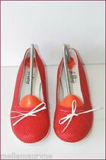 PALMA Leather Ballet Flat Shoes Synthetic Red spotted T 38 NEW CONDITION