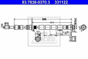 Flexible de frein FORD FIESTA  FIESTA VI FIESTA VI Van 4006633348119