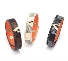 New Fashion Faux Leather Trendy V Shaped Adjustable Bohemian Bracelet Bangle