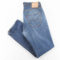 LEVI'S 501 Blue Denim Regular Straight Jeans Mens W34 L31