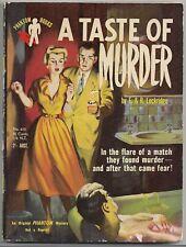 Digest Paperback~A TASTE OF MURDER by F. & R. LOCKRIDGE~1954 Australian HTF!