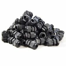50x PG7 Black Nylon Waterproof Strain Relief,Cord Grip,Cable Gland 3.5-6 mm Q5R2