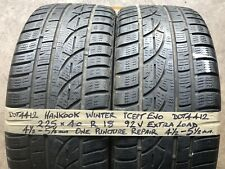 Hankook Winter Snow Tyres Part Worn Used Car 225 40 18 alloy wheels 2254018 Golf
