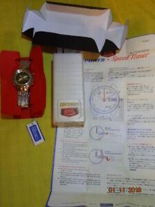 10/74 SEIKO 5 SPORTS SPEEDTIMER 7015 8000 JDM KANJI ORGNL BOX PAPER BAND SERVICE