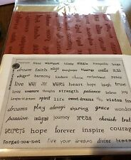 Unmounted Rubber Stamps - Sheet of whimsical Words