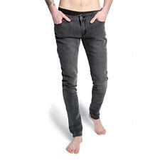 71b121e6 Criminal Damage Jeans Mens Grey SKINNY Fit Snow Wash Skinnies Slim Stretch  Pant 28
