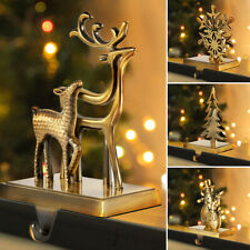 Christmas Stocking Hanger Holders Snowman Snowflake Deer Iron Hanging Hooks UK