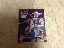 1989 DETROIT TIGERS baseball Program alan trammel mark fydrich used!!.