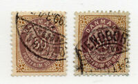 Denmark - Sc# 51 & 51a Used / wmk 112/ P 13      -      Lot 0620529