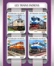 Niger 2017 MNH Indian Trains 4v M/S Trains Railways Rail Stamps