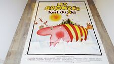 LES BRONZES font du ski  ! le splendid  affiche cinema 1979 ferracci ! 120x160cm