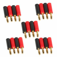 10 pcs 4mm Adapter Wire Cable Audio Speaker Banana Plug Connector Black Red Hots