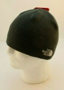 THE NORTH FACE Bones Asphalt Gray Recycled Beanie with Logo New with TAGS