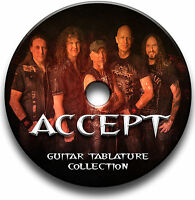 ACCEPT HEAVY METAL ROCK GUITAR TAB TABLATURE SONG BOOK ANTHOLOGY SOFTWARE CD