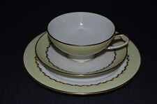 ROSENTHAL HANDMALEREI TRIO CUP WITH SAUCER,CAKE PLATE