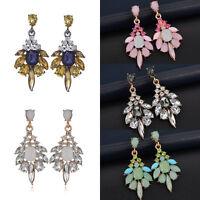 Fashion Women Vintage Crystal Resin Ear Stud Drop Dangle Charm Earrings Jewelry