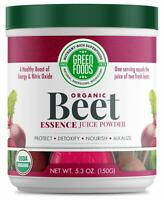 Green Foods- Beet Essence Juice Powder- Organic and Raw Superfood, Wholefood ...