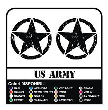3 ADESIVI cm 10 STELLA + US ARMY per FUORISTRADA JEEP RENEGADE WILLYS STICKERS