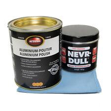Nevr Dull Polier Watte + 750 ml Aluminium Metall Politur Autosol + Poliertuch