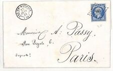 BF67 1861 France *ARC-EN-BARROIS* Paris Cover {samwells-covers}
