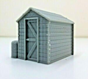 MODEL RAIL SCENERY 'GARDEN SHED' © 'OO' GAUGE 3D PRINTED  UNPAINTED BIN 4.95