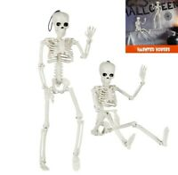 2X Poseable Human Skeleton Halloween Decoration Skull Hanging Party Dead Pose US
