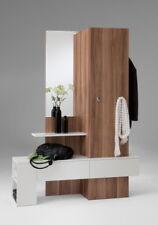 Garderobe Spiegel Schrank Ablage Flur Möbel Mod. G117 Nussbaum Weiss