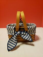 Longaberger 1999 Sweetheart Picture Perfect Basket w Protector Liner Combo