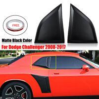 08-19 Dodge Challenger Xenon Urethane Quarter Window Covers Scoops Pair 12950