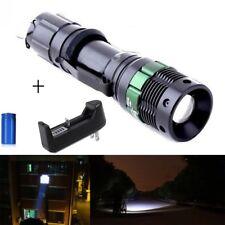 Lampe LED 7W STROBOSCOPE-3 modes-molette zoom+chargeur et pille rechargeable