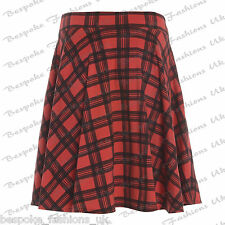 Ladies Women's Plain Stretchy Elasticated Plus Size Skater Skirt sizes 14-28