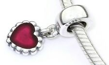 Pandora Silver Charm with Pink Enamel  HEART - 790471EN07 RRP£45!!!